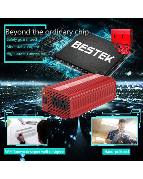2-Outlet 1000W Car Power Inverter