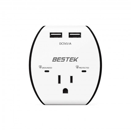BESTEK 600 Joules Wall Outlet Surge Protector
