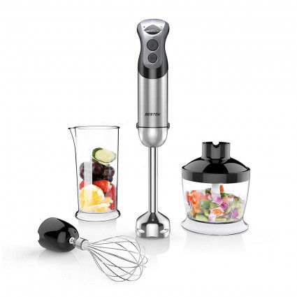 BESTEK 350W 2 Speed 4-in-1 Hand Blender