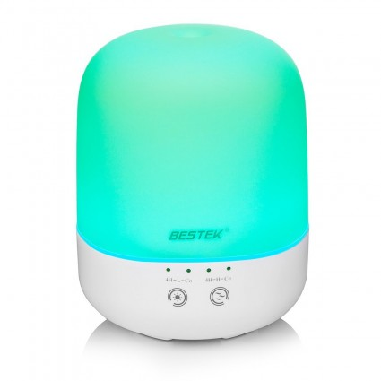 BESTEK Essential Oil Diffuser 300 ml Ultrasonic Cool Aroma Diffuser Color Changing Air Purifier with Adjustable Modes, Waterless Auto Shut-off for Home & Office