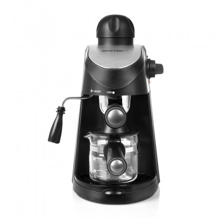 BESTEK Coffee Machine 3.5 Bar Steam Espresso Latte Coffeemaker with Stainless Steel Milk Frothed for Home & Office