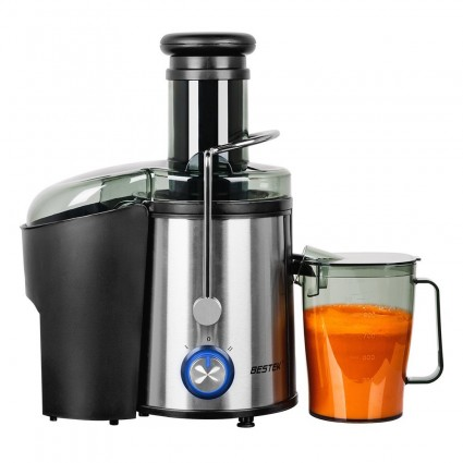BESTEK Juice Extractor 800W with Juicer Wide Mouth 3Inch/75mm Powerful Dual Speed Fruit and Vegetable Juicer Machine Stainless Steel