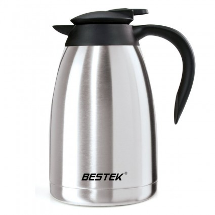 BESTEK Coffee Carafe Vacuum Insulated Stainless Steel 50 Ounce CA