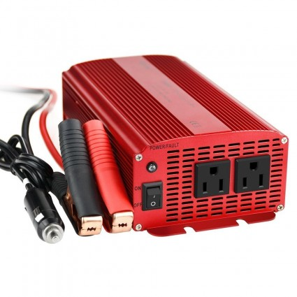 BESTEK 1000W Power Inverter DC 12V to AC 110V, 2 AC Outlets CA