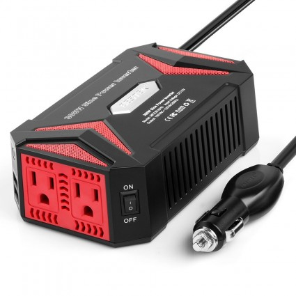 BESTEK Power Inverter 300W Pure Sine Wave with 4.2A 2 USB