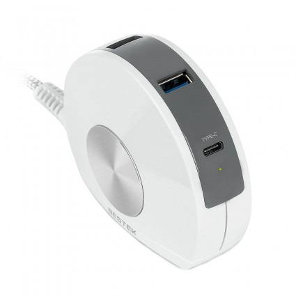 BESTEK USB Charger 30W Type-C with 4 USB Ports (White)