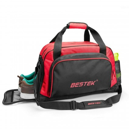 BESTEK Duffle Bag for Travel Gym with Shoes Compartment