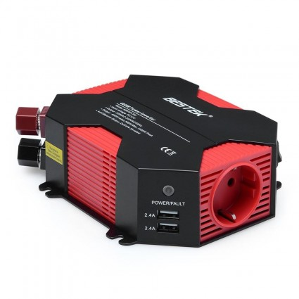 BESTEK Power Inverter 400W DC 12V to AC 230V with 4 USB DE