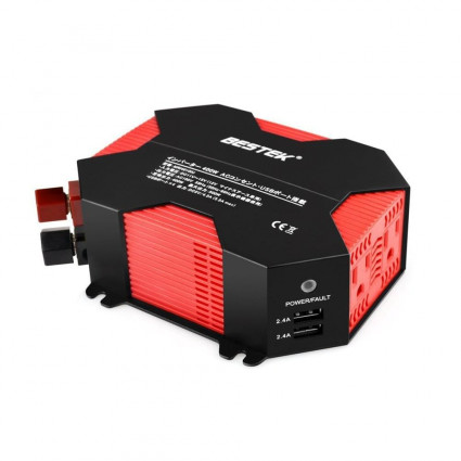 BESTEK 400W Power Inverter DC 12V to AC 100V Car Adapter with 5A 4 USB Charging Ports JP Charger
