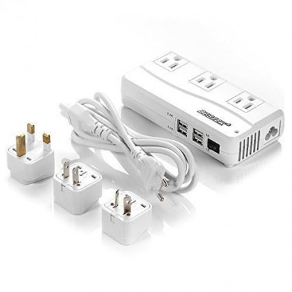 BESTEK Voltage Converters 220V to 110V with 6A 4 USB Ports 200W Rated Power for International Travel JP Charger