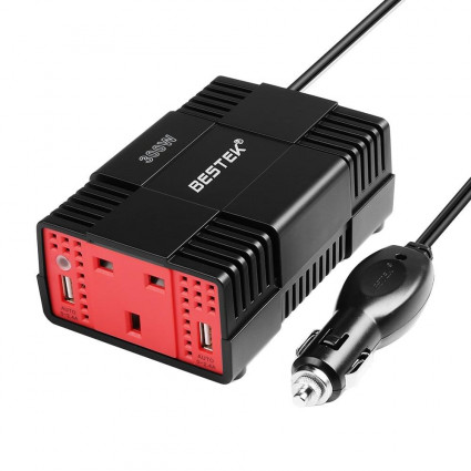 BESTEK 300W Power Inverter  for Car with 4.8A Dual USB UK