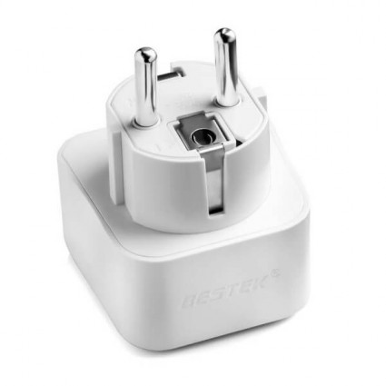 BESTEK Grounded Universal Travel Adapter Type E/F for France, Germany