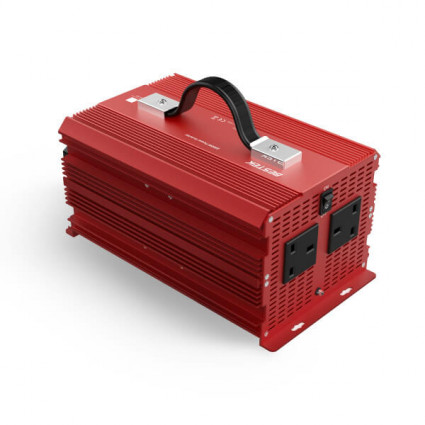 BESTEK Power Inverter 2000W DC12V to 230V for Car with 2 AC Outlets
