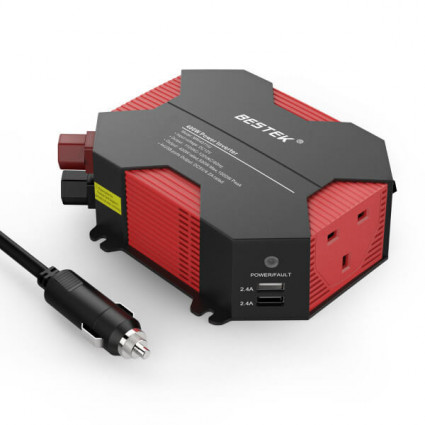 BESTEK Power Inverter 400W DC 12V to AC 230V/240V with 4 USB UK