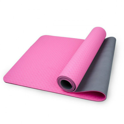 Mansov PRO Yoga Mat with 6mm Double Non-Slip Pilates Mat and Exercise Mat Pink