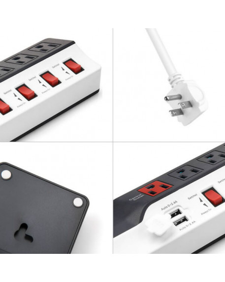 8-Outlet Dual USB 900 Joules Surge Protector