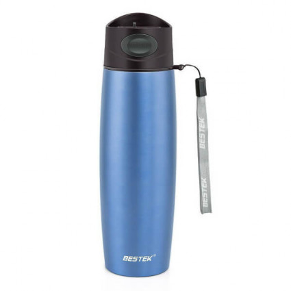 BESTEK Vacuum Mug Double Wall Stainless Steel with 17 Ounce Blue