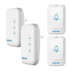 Deals on BESTEK Wireless Doorbell Kit w/2 Transmitters, 2 Receivers