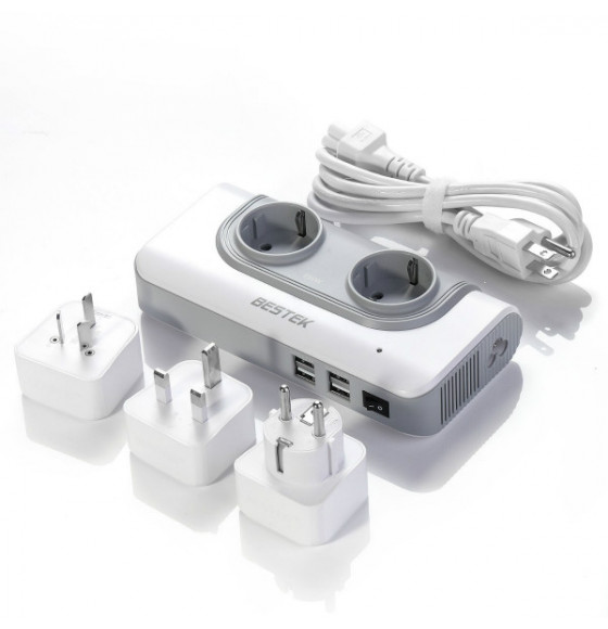 BESTEK Travel Voltage Converter 110V to 230V with 4.2A 4 USB