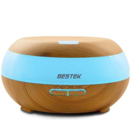 BESTEK 300ml Wood Grain Oil Diffuser with Auto Shut-off