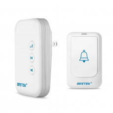 BESTEK Wireless Doorbell Kit 36 Chimes w/1 Remote, 1 Receiver