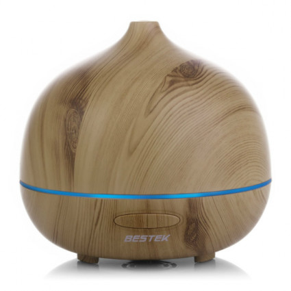 BESTEK Wood Grain Oil Diffuser with 7 Changing Colors IT
