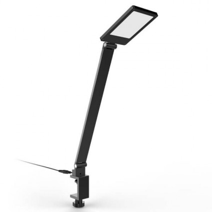 iron skape arm silver long table lamp led clamp lamps light desk folding book mechanical