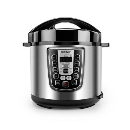 BESTEK 11-in-1 Programmable Electric Pressure Cooker Stainless Steel 6.3Qt