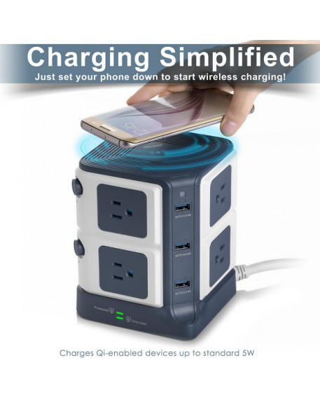 Wireless Charger Desktop Power Strip