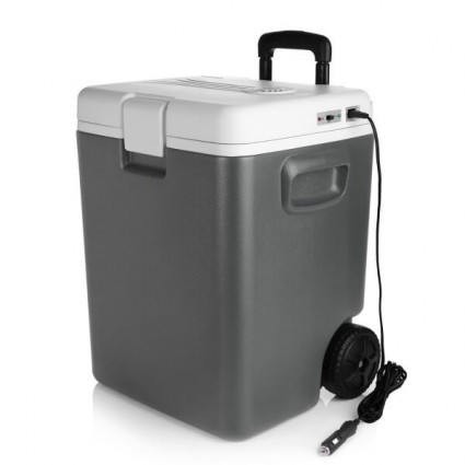 BESTEK Wheeled Electric 30 Quart Cooler and Warmer with DC 12V Plug  (Grey)