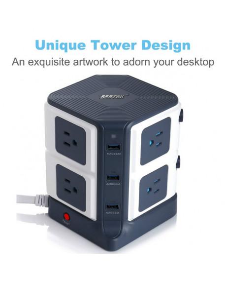8-Outlet Desktop Power Strip