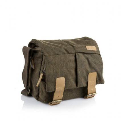 BESTEK Canvas DSLR Camera Bag with Shockproof Insert